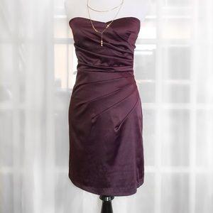 Mystic Purple Strapless Dress